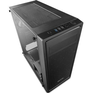 Gabinete Gamer Deepcool E-Shield, Mid Tower, com FAN, Lateral em Vidro - DP-ATX-E-SHIELD