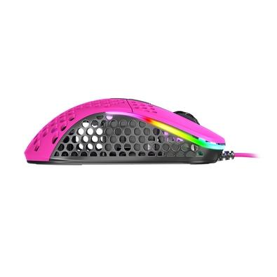 Mouse Gamer Xtrfy M4, RGB, 6 Botões, 16000DPI, Rosa - XG-M4-PINK