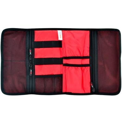 Estojo Organizador PCYes TravelTech TK-1, para Cabos Multiuso, Preto/Vermelho - TK-1 (32083)