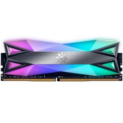 Memória XPG Spectrix D60G, RGB, 8GB, 3200MHz, DDR4, CL16, Cinza - AX4U320038G16A-ST60