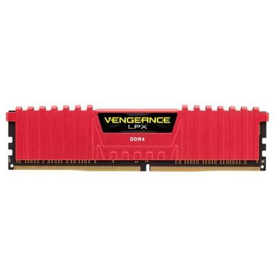 Memória Corsair Vengeance LPX 32GB (2x16GB) 3000Mhz DDR4 C15 Red - CMK32GX4M2B3000C15R