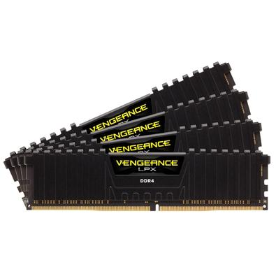 Memória Corsair Vengeance LPX 64GB (4x16GB) 2400Mhz DDR4 C14 Black - CMK64GX4M4A2400C14