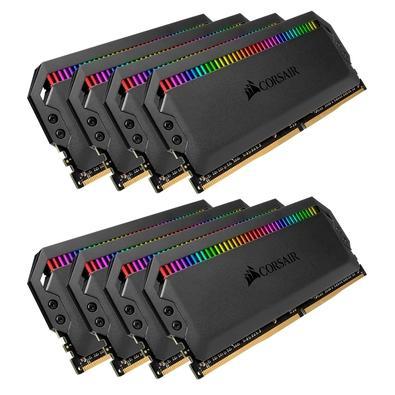 Memória Corsair Dominator RGB 128GB (8x16GB) 3600MHz  DDR4  C18 Black - CMT128GX4M8X3600C18