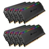 Memória Corsair Dominator RGB 64GB (8x8GB) 3600MHz  DDR4  C18 Black - CMT64GX4M8X3600C18