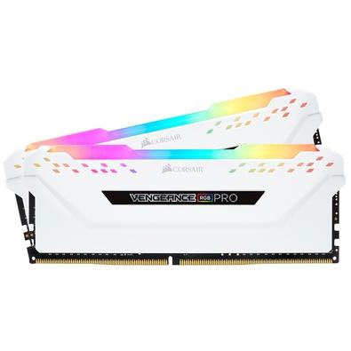 Memória Corsair Vengeance RGB Pro 16GB (2x8GB) 3600MHz DDR4 C18 White - CMW16GX4M2C3600C18W