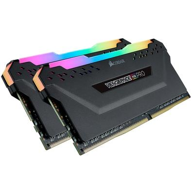 Memória Corsair Vengeance RGB Pro 32GB (2x16GB) 3600MHz DDR4 C18 Black - CMW32GX4M2D3600C18