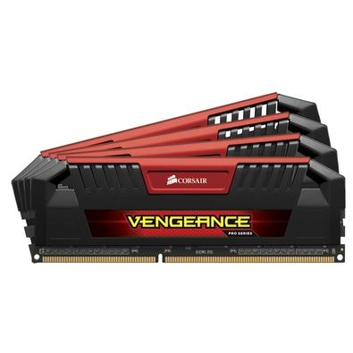 Memória Corsair Vengeance PS 32GB (4x8GB) 1600Mhz DDR3 C9 Red - CMY32GX3M4A1600C9R