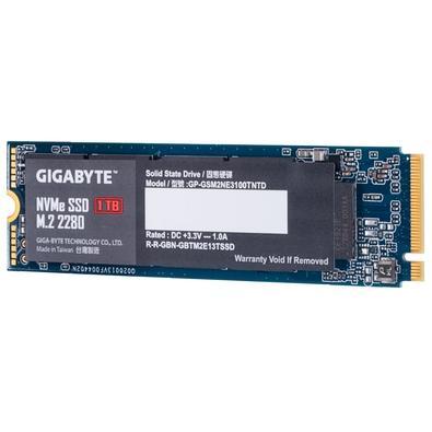 SSD Gigabyte, 1TB, M.2, PCIe, NVMe, Leituras: 2500Mb/s e Gravações: 2100Mb/s - GP-GSM2NE3100TNTD