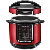 Panela de Pressão Elétrica Mondial Master Cooker, 5 Litros, 110V, Vermelho - PE-39