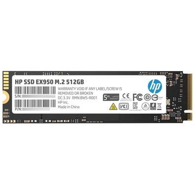 SSD HP EX950, 512GB, M.2, PCIe, NVMe, Leituras: 3500Mb/s e Gravações: 2250Mb/s - 5MS22AA#ABC