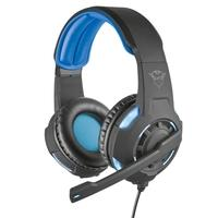 Headset Gamer Trust GXT 350 Radius, LED, 7.1 Som Surround, Drivers 40mm, Preto/Azul - 22052