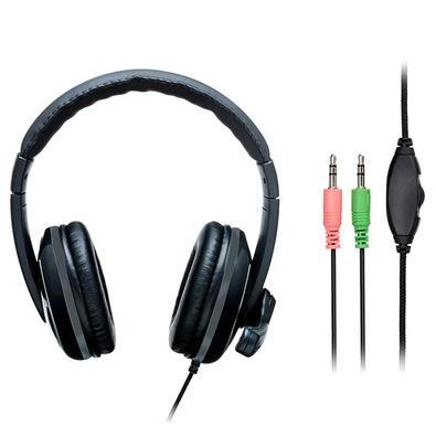 Headset Multilaser Pro, P2, Preto/Cinza, com Adaptador P3 - PH316