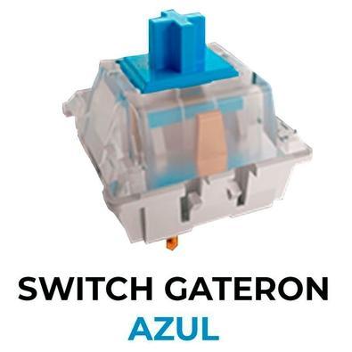 Teclado Mecânico Gamer Fallen Falcão Peregrino, RGB, Switch Gateron Azul, ABNT2