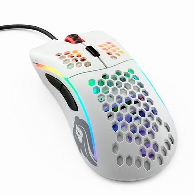 Mouse Gamer Glorious PC Gaming Race Model D, RGB, 6 Botões, 12000DPI, Branco - GD-WHITE