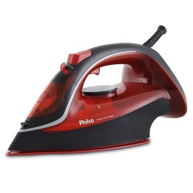 Ferro de Passar a Vapor Philco Nano Ceramic PPFV2300V, 1200W, 110V, Preto/Vermelho - 53601033