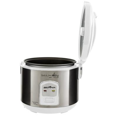 Panela de Arroz Elétrica Britânia BPA5BI, 5 Xícaras, 110V, Branca/Prata - 66401109