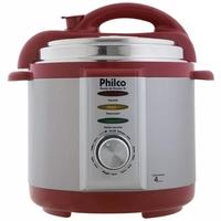 Panela de Pressão Elétrica Philco, 4 Litros, 110V, Prata/Vermelho - 56401035