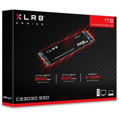 SSD PNY XLR8, 1TB, M.2, Leituras: 3.000MB/s e Gravações: 3.500MB/s - M280CS3030-1TB-RB