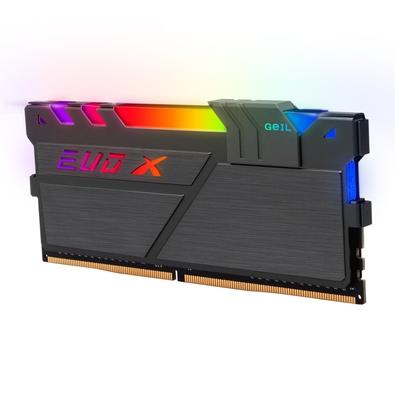 Memória Geil EVO X II, RGB, 16GB (2x8GB), 3000MHz, DDR4, CL16 - GAEXSY416GB3000C16ADC