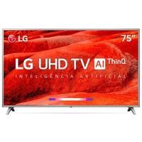 Smart TV LED 75´ LG UHD 4K, Conversor Digital, 4 HDMI, 2 USB, Wi-Fi, ThinQ AI, Google Assistant, HDR - 75UM7510