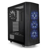 Gabinete Gamer Thermaltake Versa J24, Mid Tower, RGB, com FAN, Lateral em Vidro - CA-1L7-00M1WN-01