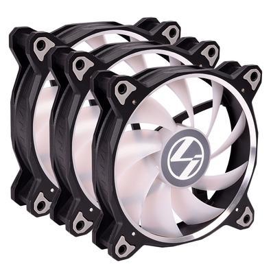 Cooler FAN Lian Li Bora Lite Black, 120mm, RGB - BR LITE 120-3 BLACK