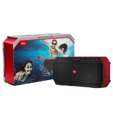 Caixa de Som Portátil TCL, Bluetooth, 30W RMS, À Prova d´Água, Preto/Vermelho - BS30B