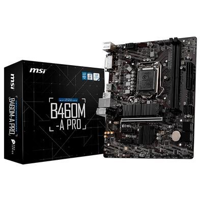Placa-Mãe MSI B460M-A Pro, Intel LGA 1200, mATX
