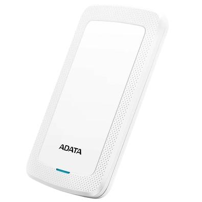 HD Externo Adata HV300 Ultra Slim, 1TB, USB 3.2, Branco - AHV300-1TU31-CWH