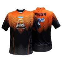 Camiseta Uniforme Oficial KaBuM! e-Sports 2020, Preta, Laranja, Ninja, Dry-Fit, Tamanho GG