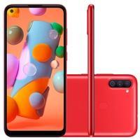 Smartphone Samsung Galaxy A11, 64GB, 13MP, Tela 6.4´, Vermelho - SM-A115MZRGZTO