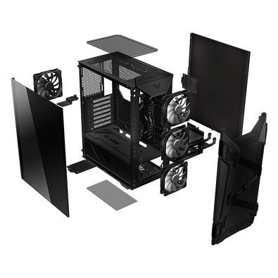 Gabinete Gamer Asus TUF Gaming GT301, Mid Tower, Aura RGB, com FAN, Lateral em Vidro - 90DC0040-B40000