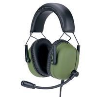 Headset Gamer Husky Tactical, 7.1 Som Surround, Drivers 2x 30mm + 2x 40mm, Olive Green - HS-TTC-OG