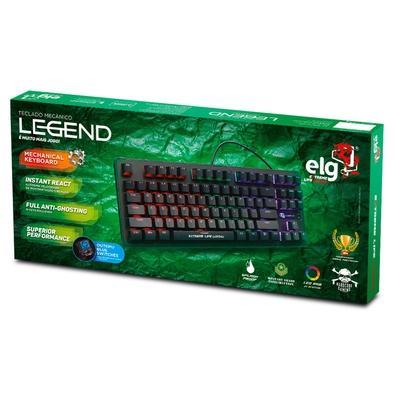 Teclado Mecânico Gamer ELG Legend, LED, Switch Outemu Blue, US - TGML