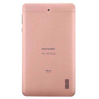 Tablet Multilaser M7 3G Plus, Bluetooth, Android Oreo, 16GB, Tela de 7´, Rosa - NB305