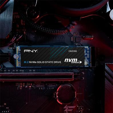 SSD PNY CS2130, 500GB, M.2 NVMe, Leituras: 3500Mb/s e Gravações: 925Mb/s - M280CS2130-500-RB