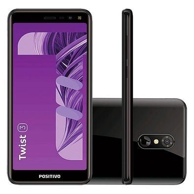 Smartphone Positivo Twist 3 S513, 32GB, 8MP, Tela 5.5´, Preto - 11150430