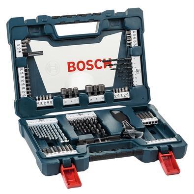 Kit de Pontas e Brocas Bosch V-Line, em Titânio, para Parafusar e Perfurar, com 83 Unidades - 2607017403-000