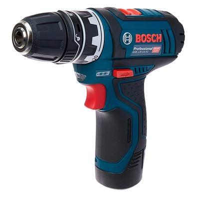 Parafusadeira e Furadeira a Bateria Bosch GSR 12V-15 FC Flexiclick, 12V, com 4 Mandris, 2 Baterias, Carregador Bivolt - 06019F60E0-000