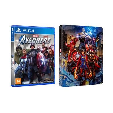 Game Marvel Avengers + Brinde SteelBook PS4