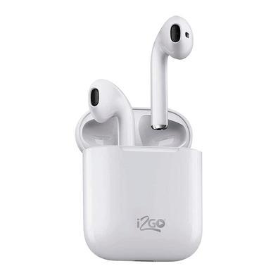 Fone De Ouvido Bluetooth I2GO TWS Air Sound Go, Recarregável, Branco - 1208