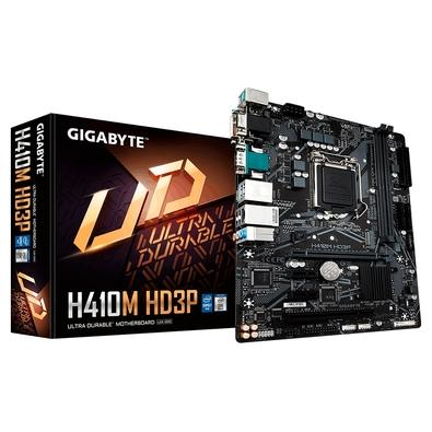 Placa-Mãe Gigabyte H410M HD3P, Intel LGA1200, mATX, DDR4, (rev. 1.0)