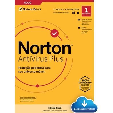 Norton 360 Antivirus Plus 2GB para 1 Dispositivo, 12 meses, Digital para Download - ESD 21405568