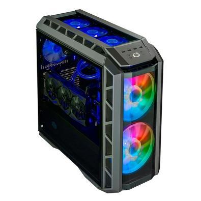 Gabinete Gamer Cooler Master H500P, Mid Tower, ARGB, com FAN, Lateral em Vidro, Gun Metal/Preto - MCM-H500P-MGNN-S01