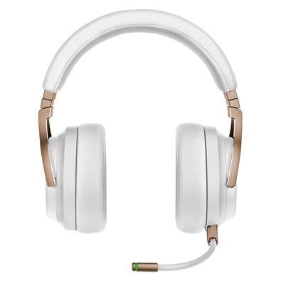 Headset Sem Fio Gamer Corsair Virtuoso Premium Pérola, RGB, Som Surround 7.1, Drivers 50mm, Múltiplas Plataformas - CA-9011224-NA