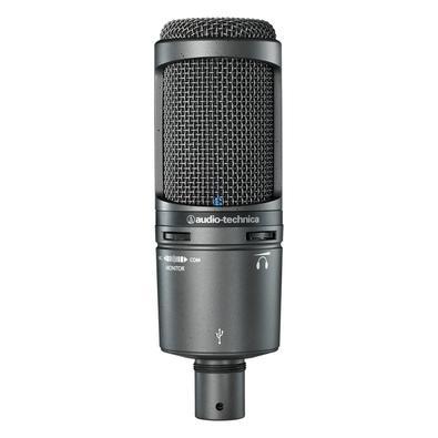 Microfone Audio-Technica AT2020USB+, USB, Cardióide Condensador, Cinza
