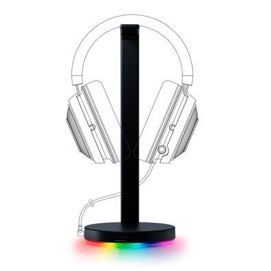 Suporte para Headset Gamer Razer Station V2, Surround Sound 7.1, Chroma, 2 Portas USB 3.1 - RC21-01510100-R3U1
