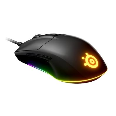 Mouse Gamer SteelSeries Rival 3, RGB, 8500 CPI, Sensor TrueMove Core, 6 Botões - 62513