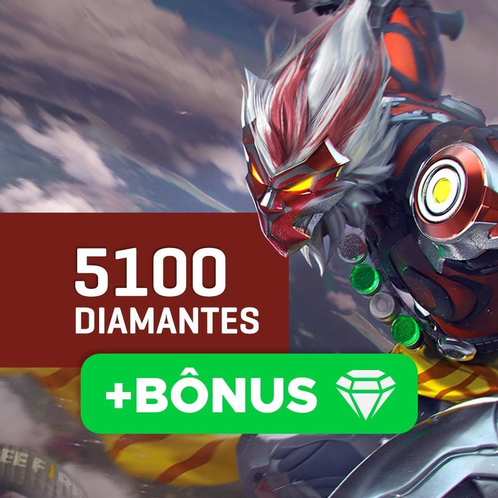 Gift Card Créditos para Free Fire: 5100 Diamantes + Bônus - Produto Digital
