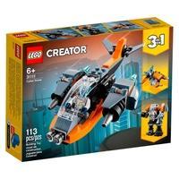 LEGO Creator 3 em 1 Ciberdrone, 113 Peças - 31111